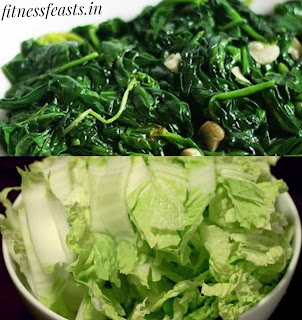Spinach and cabbage
