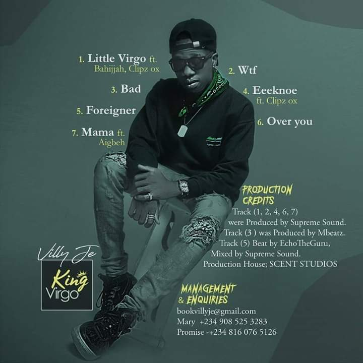 [Anticipate] Will this be the biggest Album from Abuja? -king Virgo by Villy je #Arewapublisize