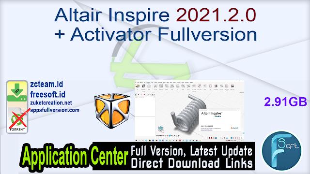 Altair Inspire 2021.2.0 + Activator Fullversion