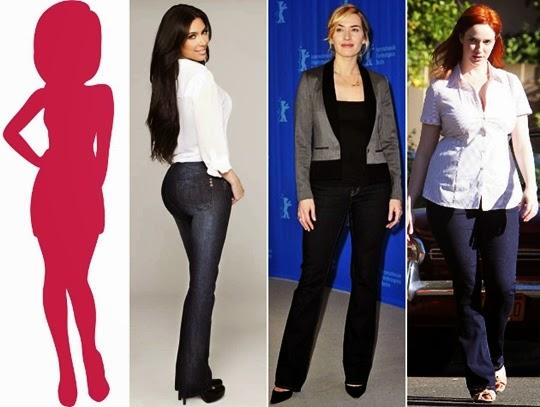 cara memilih jeans terbaik bentuk tubuh jam pasir