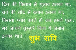good night shayari for lover in hindi