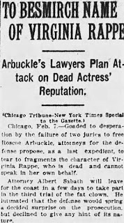 Fatty Arbuckle Trial Article