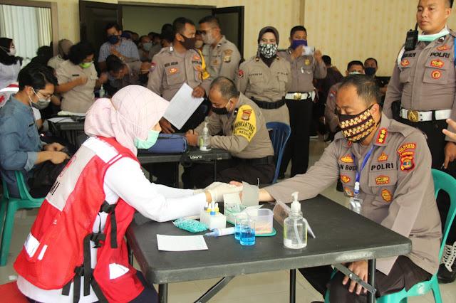Bantu Stok Darah PMI Lampung, Polresta Bandar Lampung Adakan Donor Darah