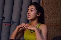 Actress Catherine Tresa Pos during Self Dubbing for Gautham Nanda Movie  0014.JPG