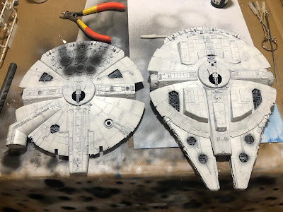 Bandai Millennium Falcon Saucer Post-Shading