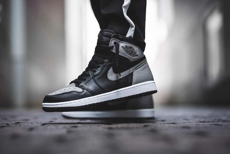 30c11ec2497 AnpKick Brand Street Footwear: Air Jordan 1 'Shadow' Grey 2018 On Feet Mens  GS Outfit Shoes 555088-013