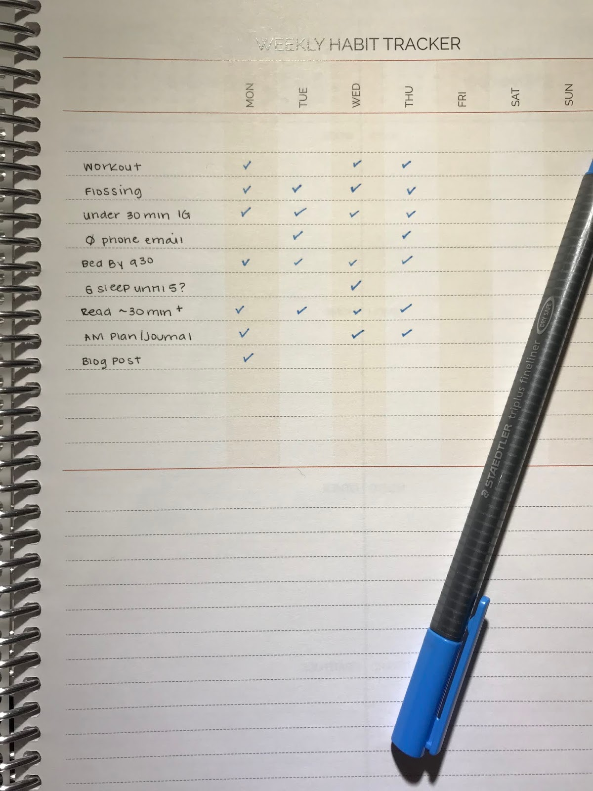 the shu box planner review 5 agendio and a check in