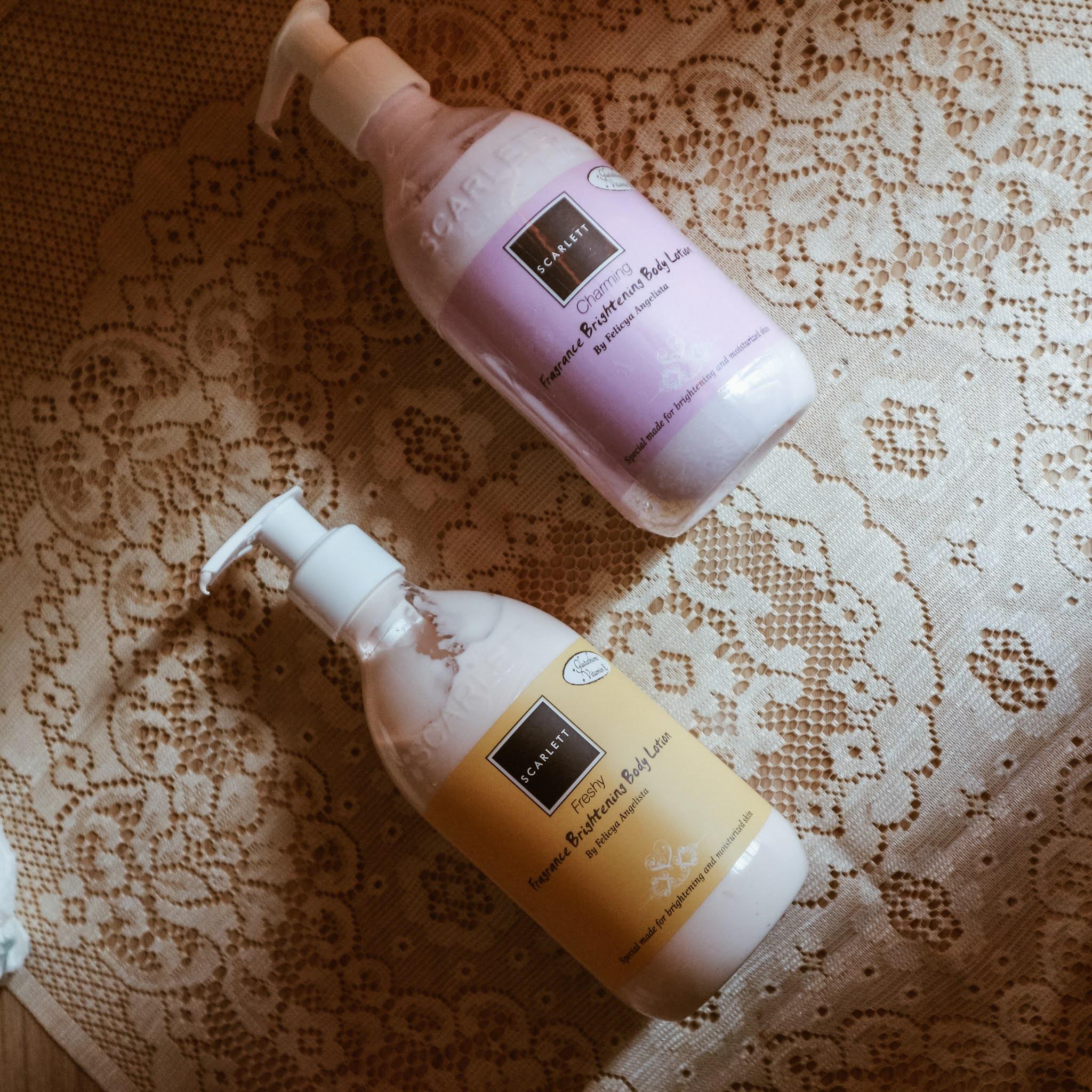 Review Scarlett Fragrance Brightening Body Lotion