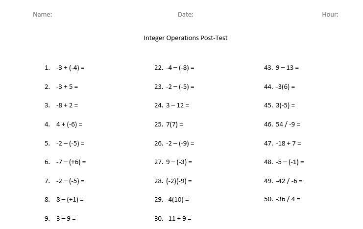 Math = Love: Remediating Integer Operations