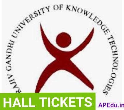 RGUKT Cet -2021 Hall Tickets
