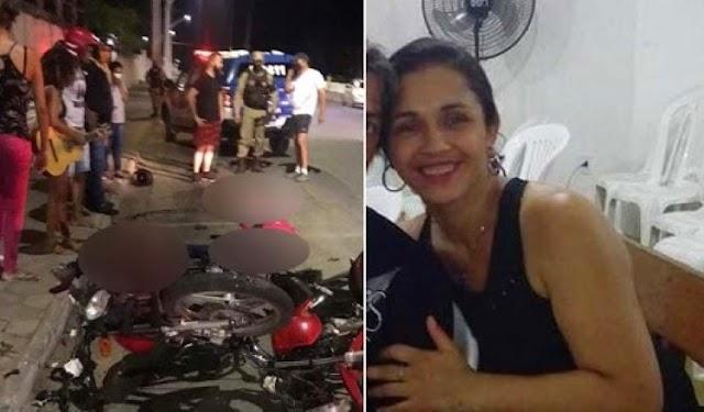 Mulher morre e três ficam feridos em colisão entre motos em Jacobina