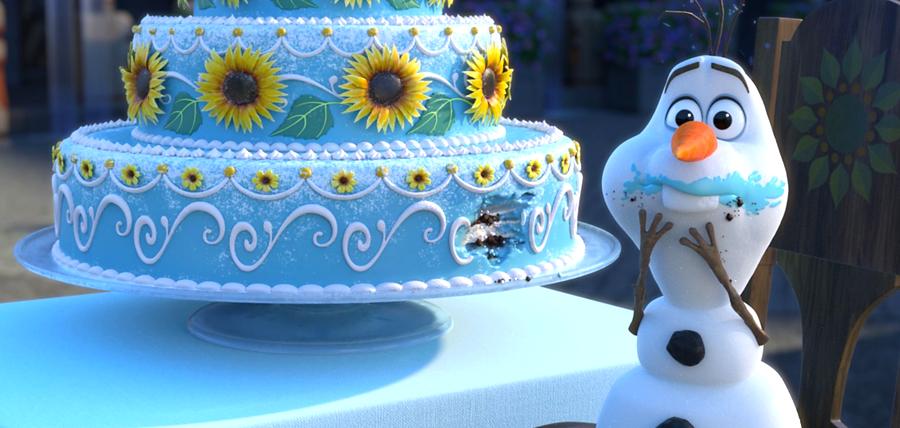 Olaf la ziua de naştere a lui Anna în animaţia Frozen Fever