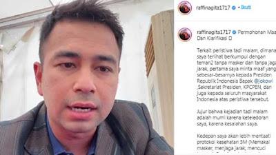 Viral! Usai di Vaksin Covid-19 Langsung ke Pesta Tak Taat Prokes, Raffi Ahmad: Minta Maaf dan Klarifikasi