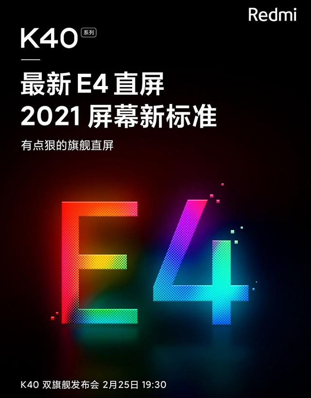 Xiaomi Redmi K40 và K40 Pro màn hình