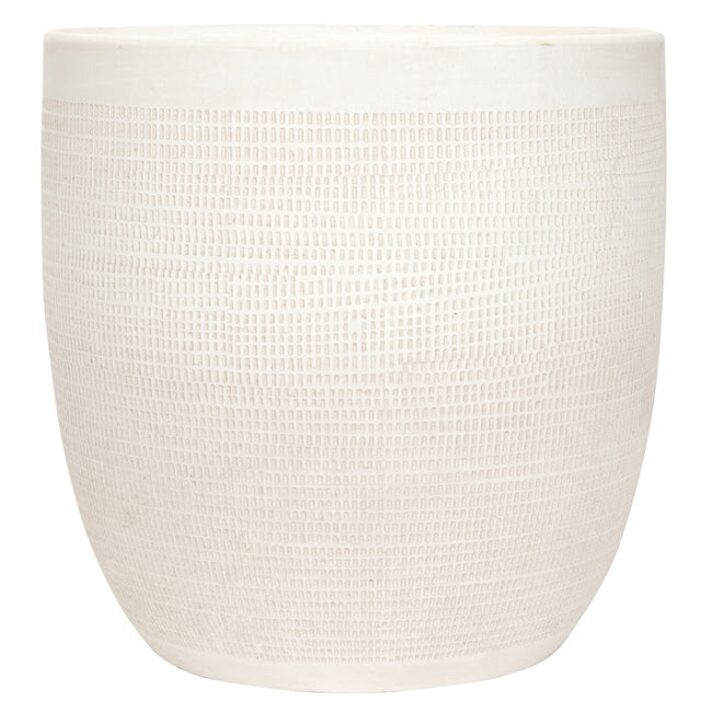 Keech Large Embossed Ceramic Pot Planter
