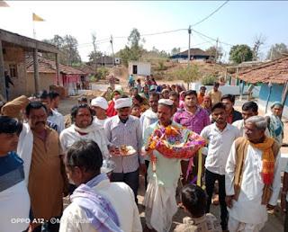 तुलसी राम शास्त्री द्वारा चल रहा है ग्राम अंडोल में प्रवचन