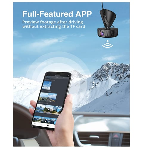 VAV 4K Dash Cam Wi-Fi Night Vision Car Dash Camera