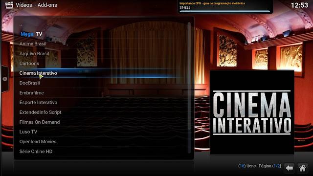 Add-On - Cinema Interativo - KODI - Filmes em Excelente qualidade