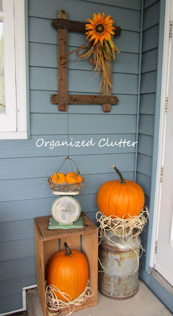 A Rustic And Vintage Fall Covered Patio Organized Clutter