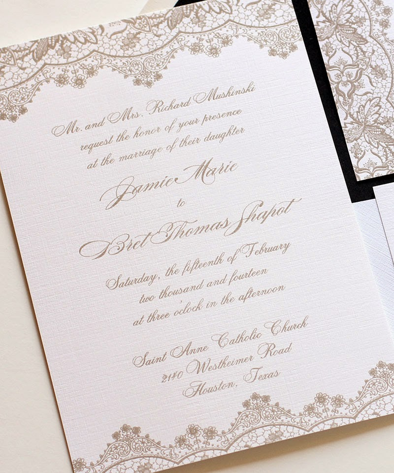 On Our Lace Wedding Invitation Shown Above We Ve Actually Used A Combination Of Two Diffe Script Fonts This Style Works Best When The Are Not