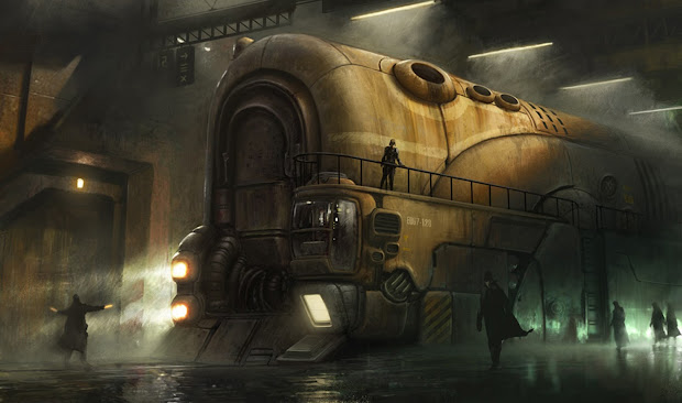 Steampunk Concepts Arts Train