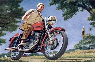Harley Davidson Model K 750cc 1952