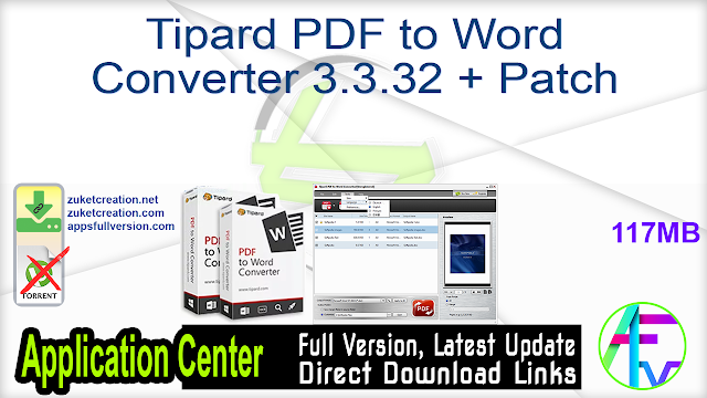 Tipard PDF to Word Converter 3.3.32 + Patch