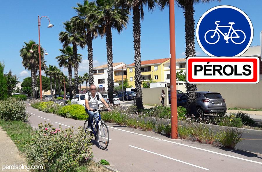 Piste cyclable à Pérols