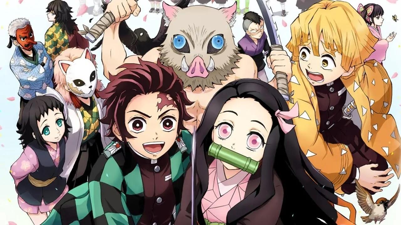 Bohaterowie mangi i anime Kimetsu no Yaiba