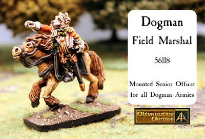 Dogman mounted Field Marshal released for Flintloque and Slaughterloo