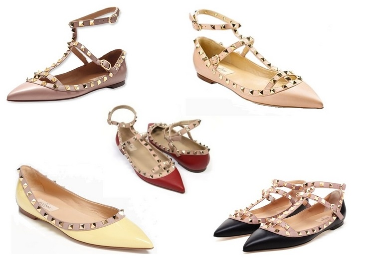 studded flats fashion