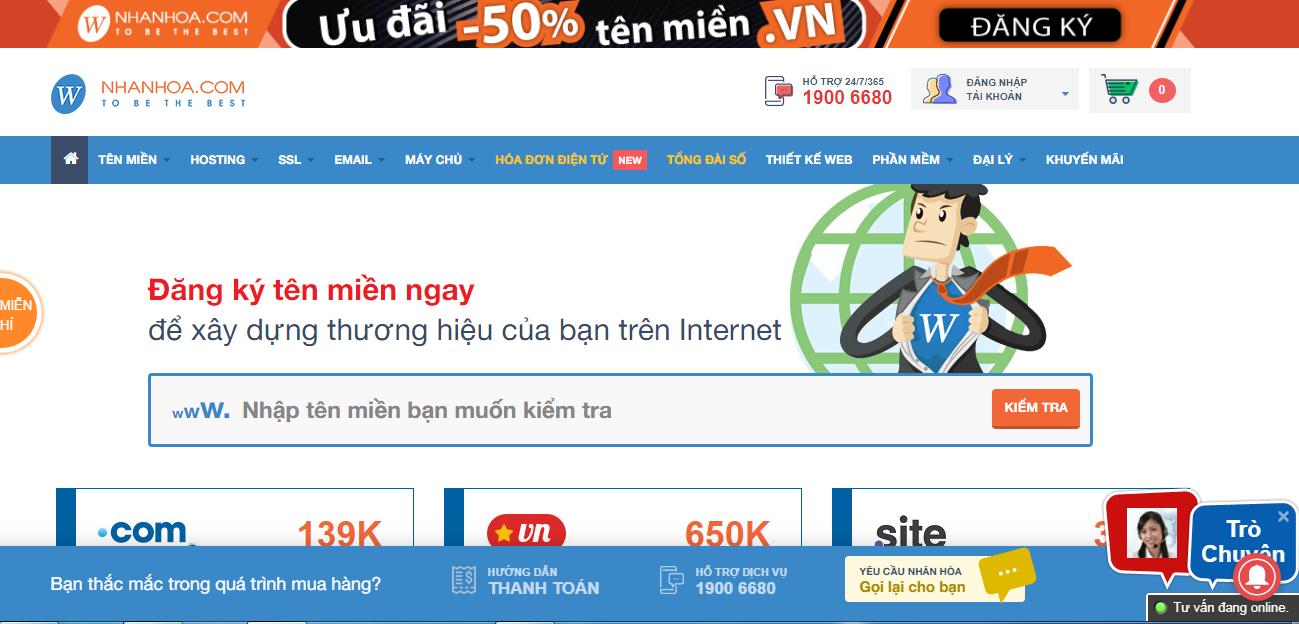 Hướng dẫn mua domain ở nhanhoa