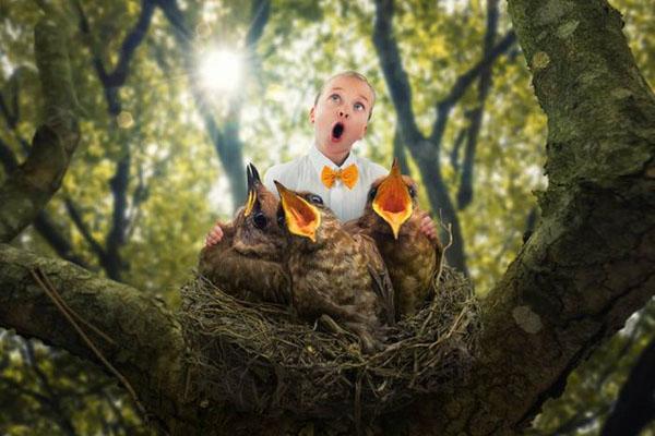 Artista leva suas três filhas para um mundo de diversão através de incríveis fotografias