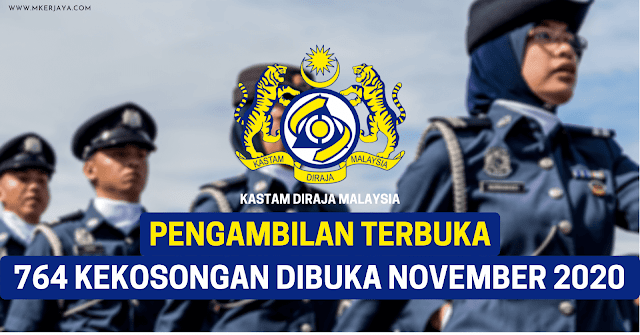 764 Kekosongan Jawatan Dibuka Kastam Diraja Malaysia Sebagai Pembantu Penguasa Kastam Gred WK19