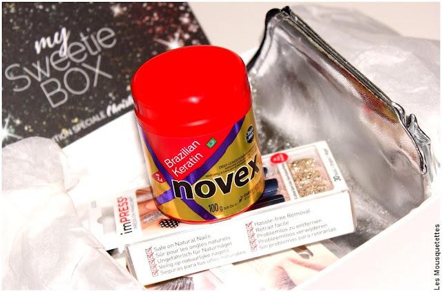 Pochette L'Oréal et Novex soin cheveux Embelleze Rio - My Sweetie Box décembre 2017 - Blog beauté
