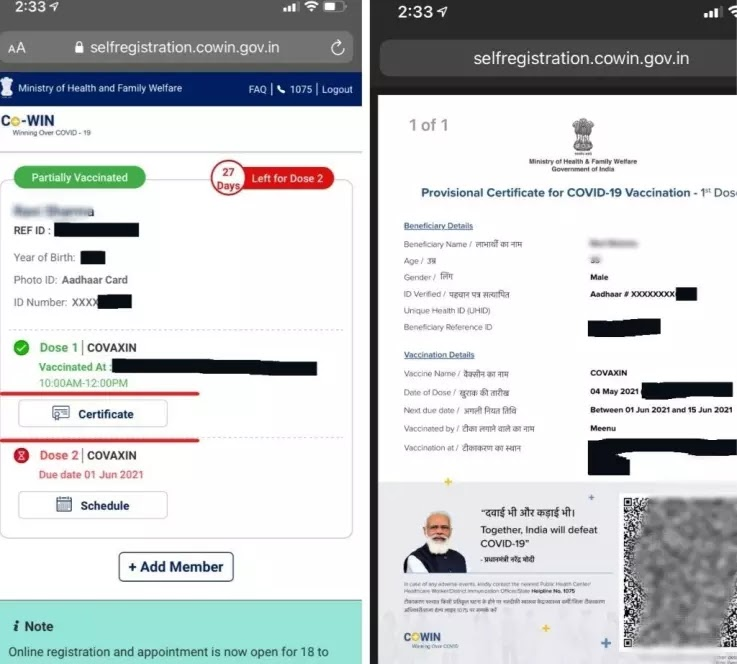 How to Download covid Vaccine Certificate, When to get it, Who gets it  Digilocker, Without Reference Number, From Cowin, Arogya setu App, PDF, by Aadhar Number, by name, by samagra id , by mobile number, by family member name.
