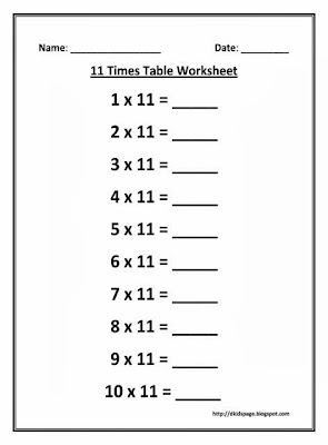 Multiplication Table Coloring Pages