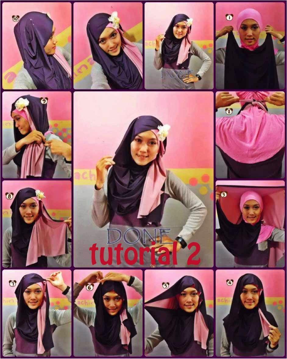 Tampil Beda Dengan Tutorial Hijab Dua Warna Review Harga Terbaru