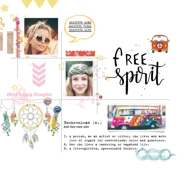 free spirit © sylvia • sro 2019 • bohemian summer by rachel etrog designs & mix max vol 3 by jimbo jambo designs