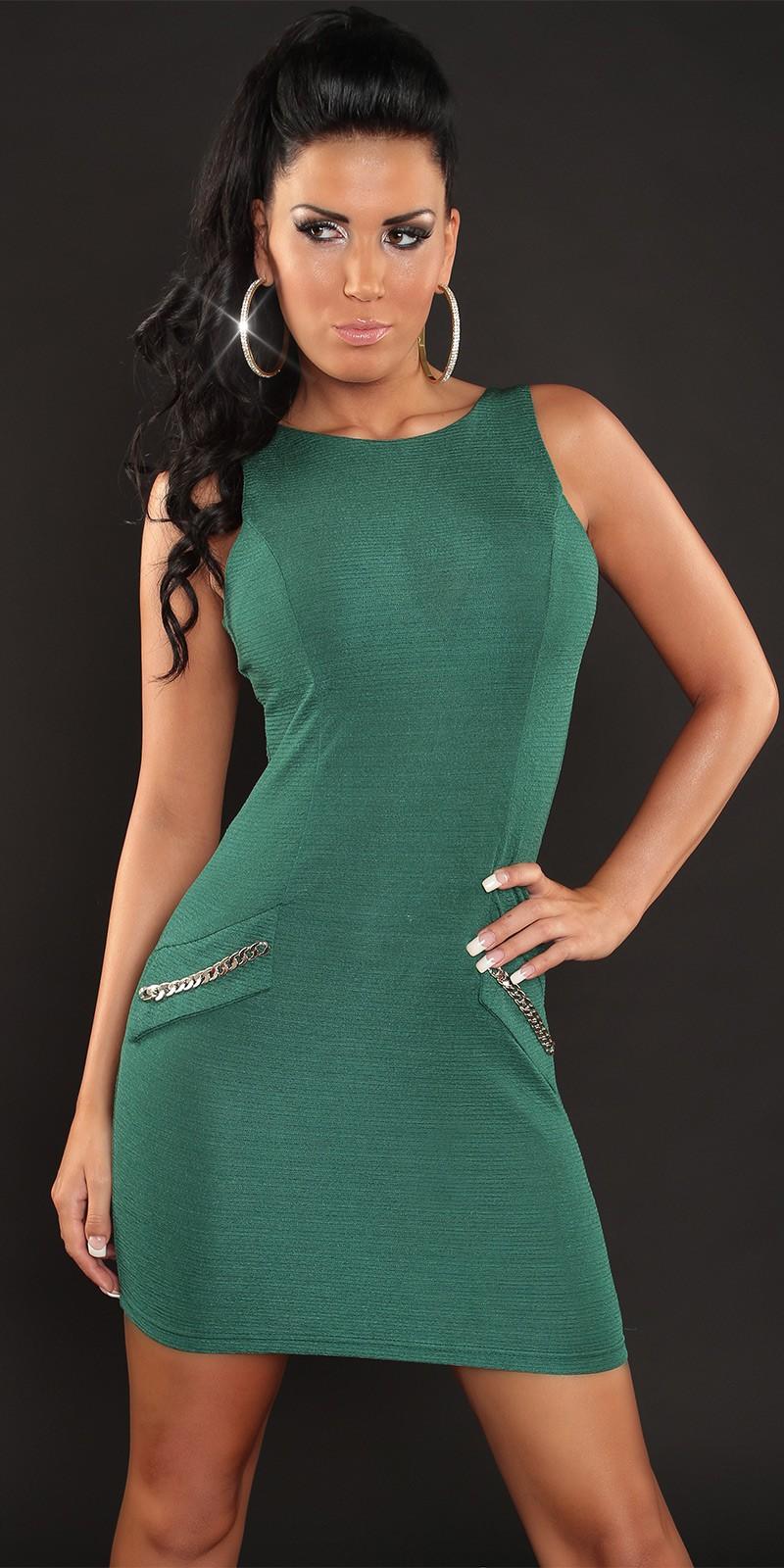 Vestido verde oscuro fiesta