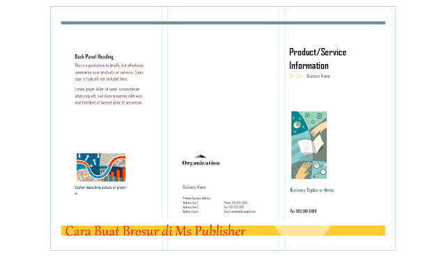 cara membuat brosur di microsoft publisher