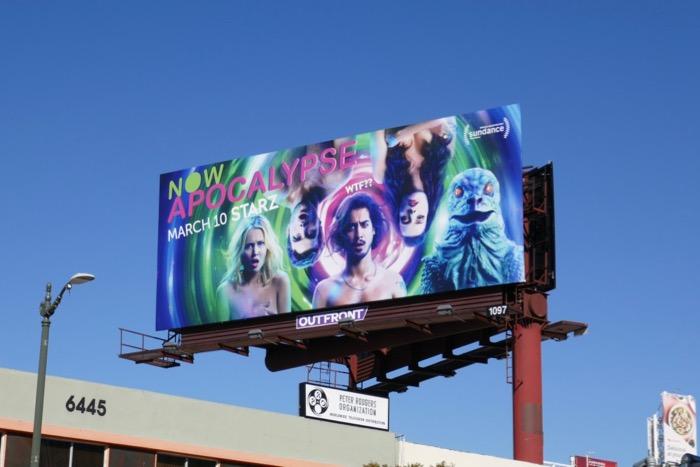 Now Apocalypse series launch billboard