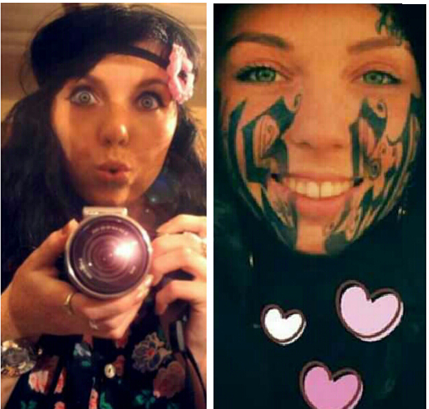 name face tattoo on with Girl