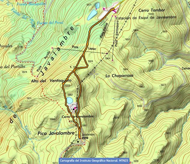 Sierra De Javalambre Mapa.Montana Para Todas Las Edades El Pico De Javalambre 2 020