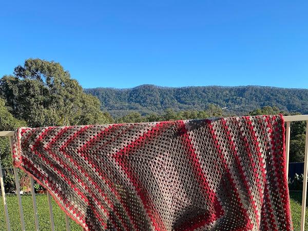 Finished : Red Velvet Crochet Blanket