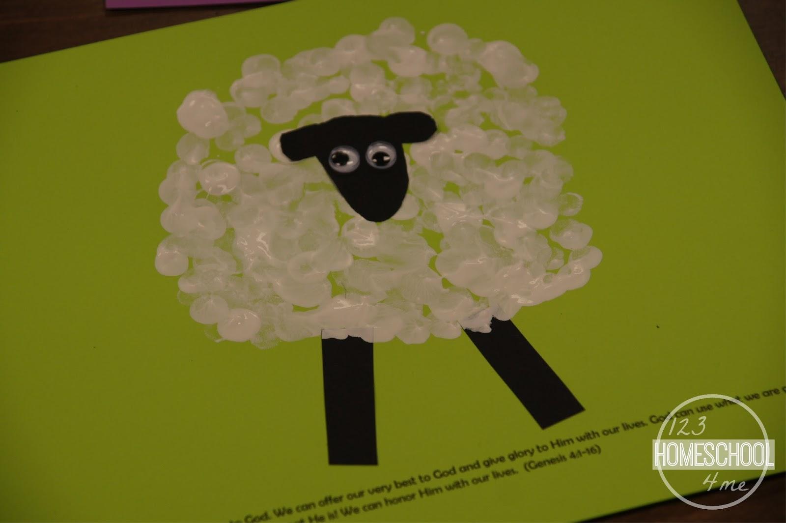 Cain Amp Abel Bible Sheep Craft