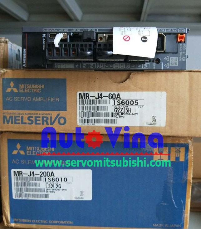 Đại lý bán bộ Servo Mitsubishi MR-J4-60A Amplifier 600W
