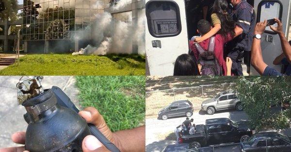 Lanzaron lacrimógenas a estudiantes durante las elecciones de la Universidad de Carabobo (fotos y videos)