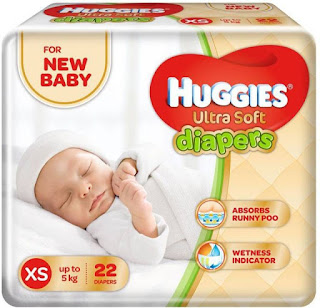 Flipkart Steal – Buy Huggies Ultra Soft Diaper – XS (22 Pieces) for Rs 99 only