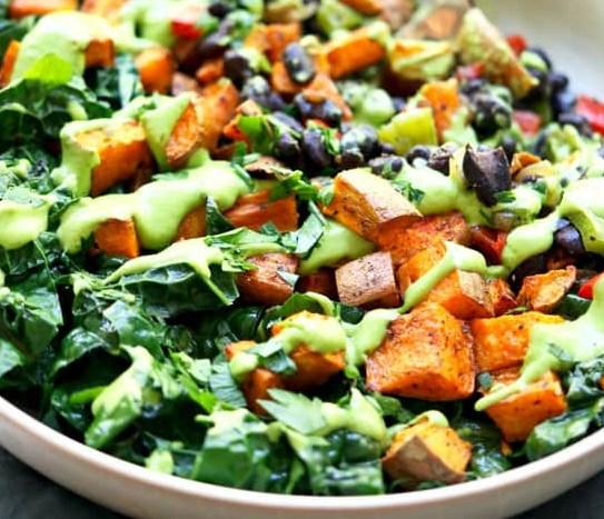 Sweet Potato Buddha Bowl With Black Beans #vegetarian #healthy